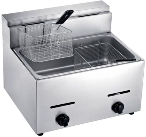 Ideal double gas deep fryer 12L