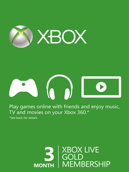 Xbox Live 3 Month Gold Card (Xbox Live)