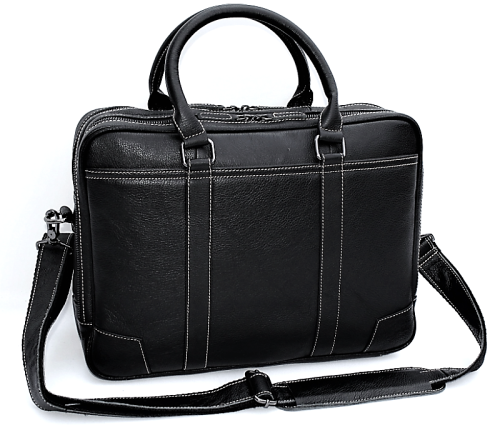 100% Full Grain Genuine Leather Large Capacity Briefcase Bag