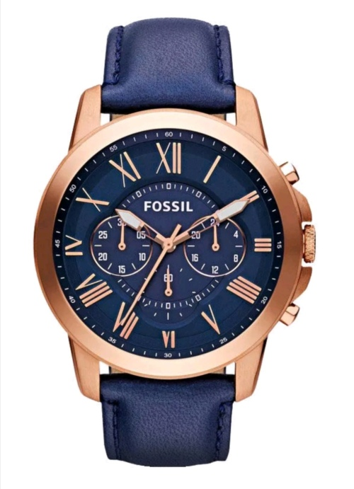 Fossil Men's Grant Leather Chronograph Watch FS4835
