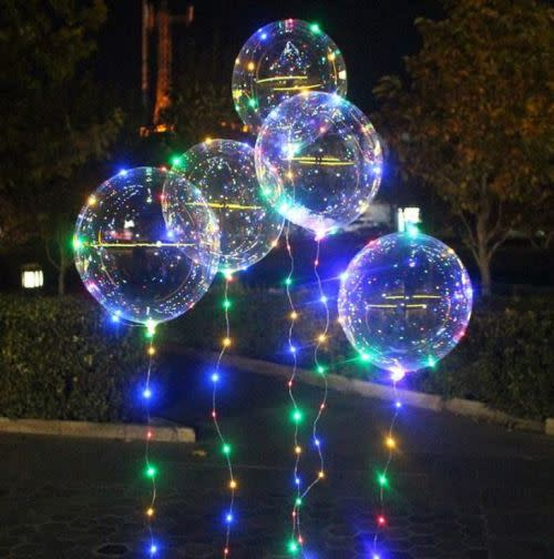 LED Light Transparent Round Balloons