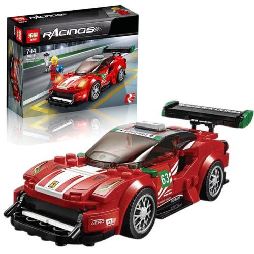The Racing Building Block Car Set