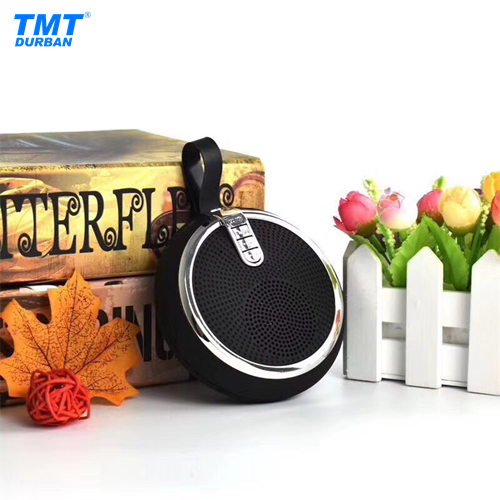 Round Mini Bluetooth Speaker with Carry Strap 5 Colours
