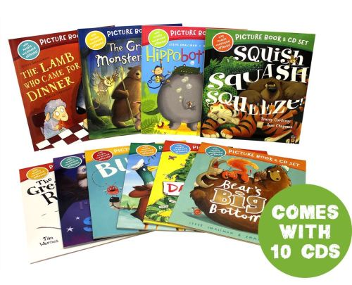 Storytime Book Set 10 Picture Books with 10 Audio CD's
