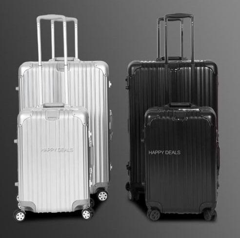 2 Piece Aluminium Luggage 20'' & 29'' Set Rose Gold,Silver & Black