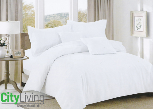 Duvet Cover Sets - 4 Piece - Plain Microfiber- Economical Range