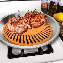 Nonstick Smokeless Indoor Stove Top Grill BBQ- Healthy Living