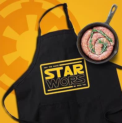 Star Wors Braai & Cooking Apron (Black) - May the sauce be with you