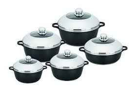 Dessini 10 Piece Non-Stick Die Cast Aluminium Cookware Set