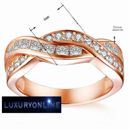 Tocean Infinity Ring With 22 Simulated Diamonds