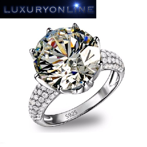 Hand Crafted White Gold Filled Simulated Diamond Crown Ring