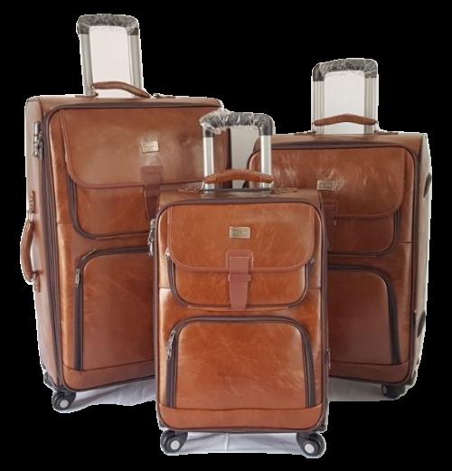 Pu 2 EF Leather Luggage Set (3 Piece)