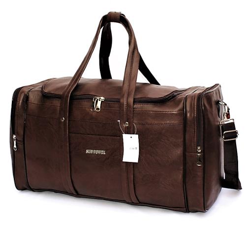 Vintage Pu Leather Weekender / Duffel Bag - 2 Colours