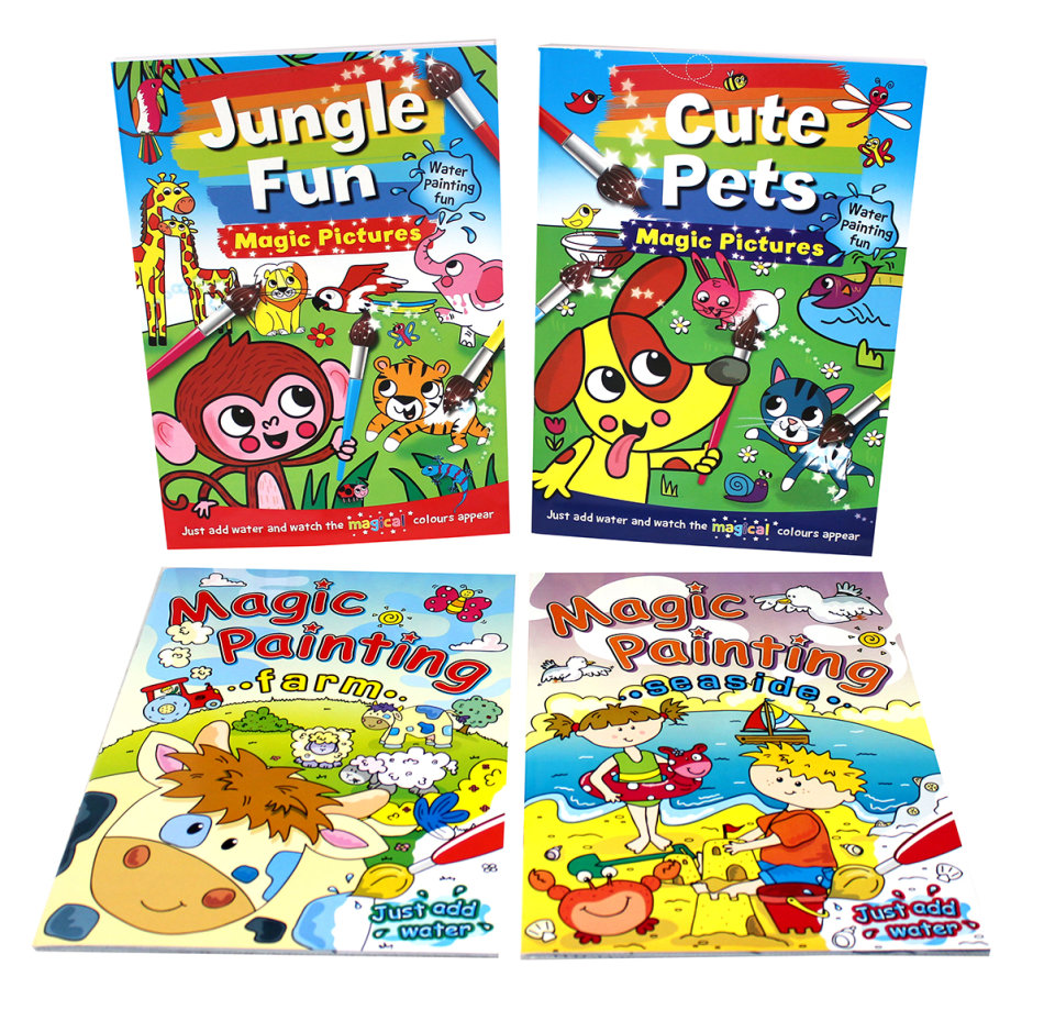 Magic Painting Fun 4 Book Bundle