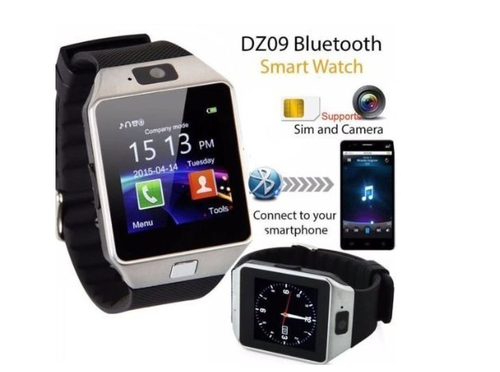DZ09 Smart Watch - White or Silver Colour