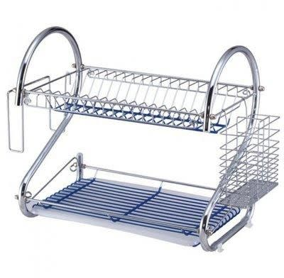 2 Layer Dish Rack and Cutlery Organiser