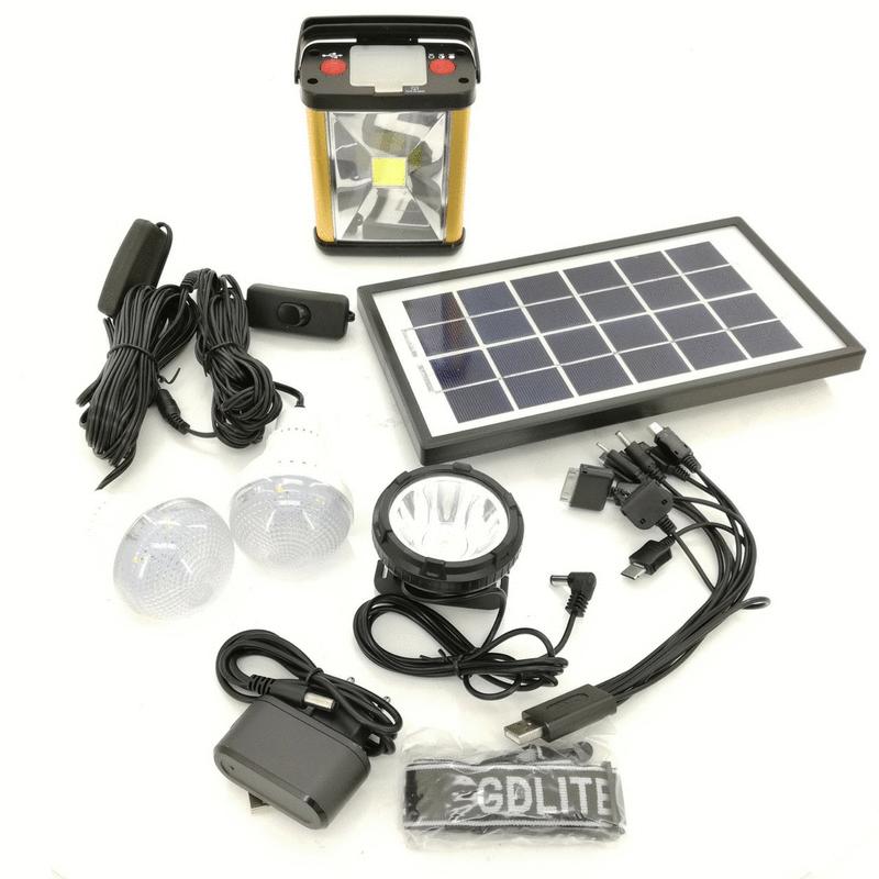 GD Lite Rechargeable Solar Lighting Kit
