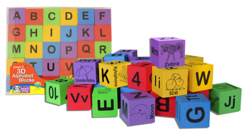 3D Alphabet Blocks