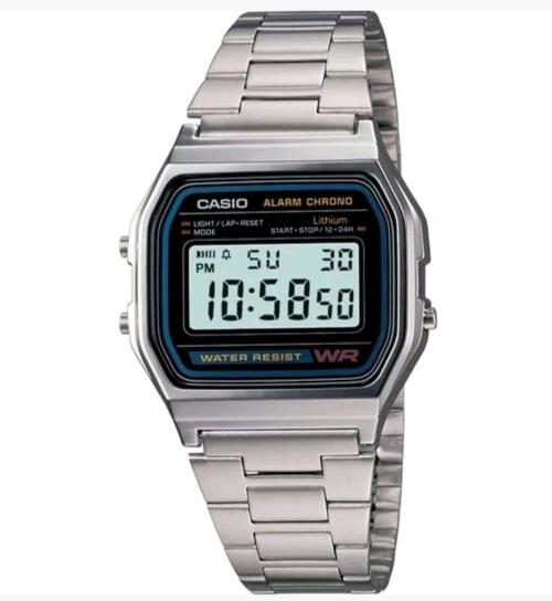 Casio A158WA-1 Classic Digital Watch, Chronograph