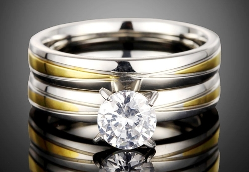 Solitaire Wedding Ring Set Size 6/M