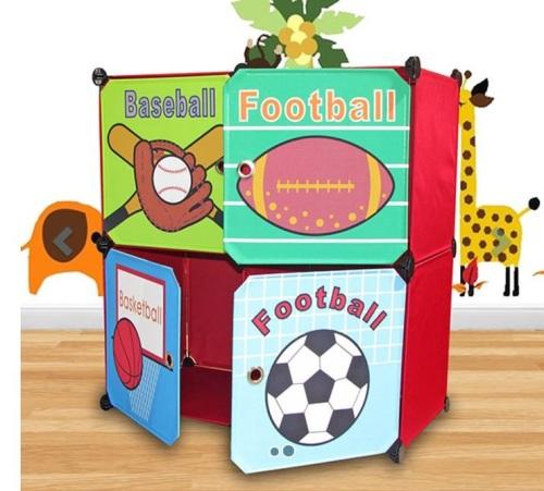 Kids Organiser Storage Rack Sports