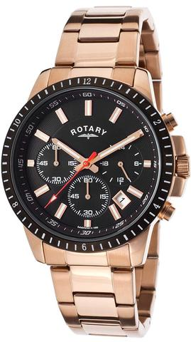 Rotary Rose Gold Chronograph Watch
