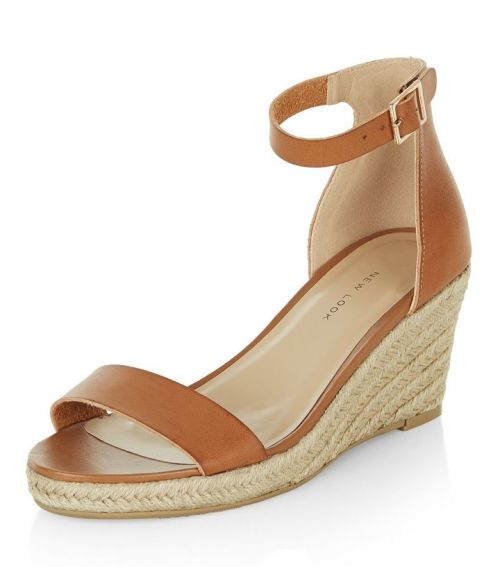 New Look Espadrille Ankle Strap Wedge
