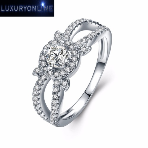 White Gold Filled Hand Crafted 1,38ct Simulated Diamond Ring
