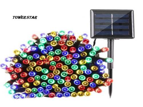 20m Multi-Coloured Solar LED Christmas Lights