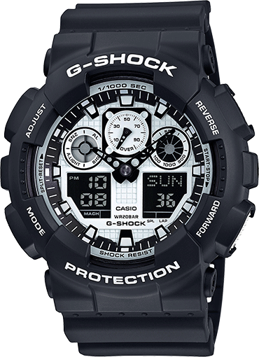 Casio G-Shock Mens Watch GA100BW-1A