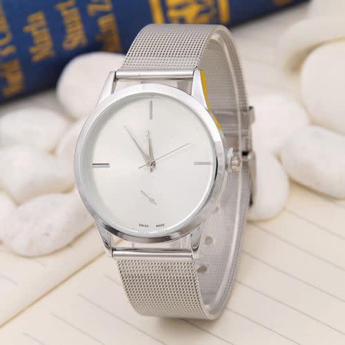 Elegant Stainless Steel Analog Quartz Wristwatch