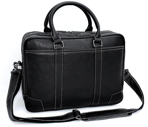 Full Grain Genuine Leather Large Capacity Briefcase Bag