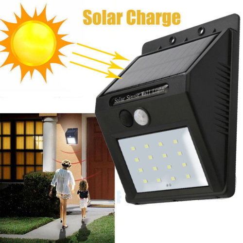Solar Power Motion Sensor PIR Wall Light