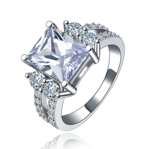 Magnificent Simulated Diamond Ring with Accents