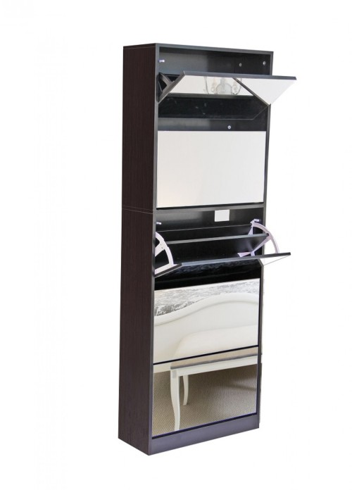 Mirror Shoe Cabinet - Stackable
