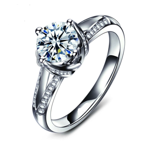 Simulated Diamond Ring with Accents