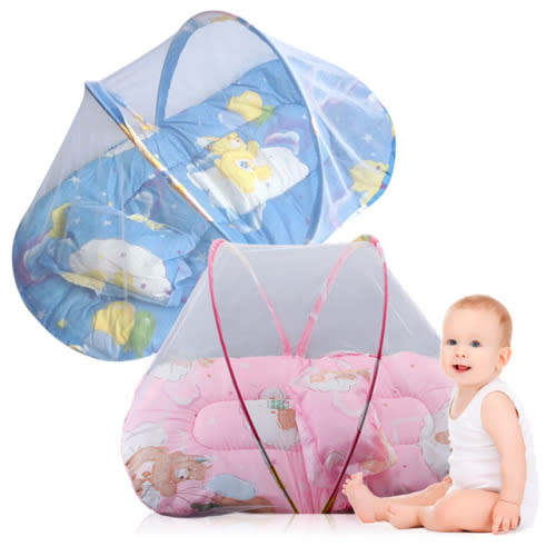 Baby Play and Sleep Bed with Mosquito Net