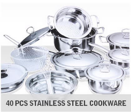 Stainless Steel Cookware Set 40 Piece