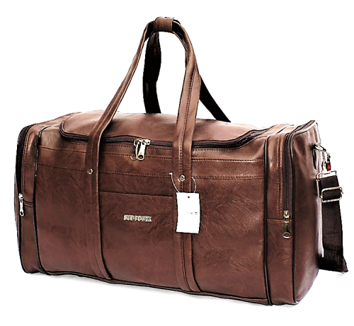 Vintage Pu Leather Weekender / Duffel Bag - 3 colours