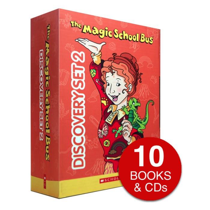 Magic School Bus Discovery Set 2 10 Books & 12 Cd's
