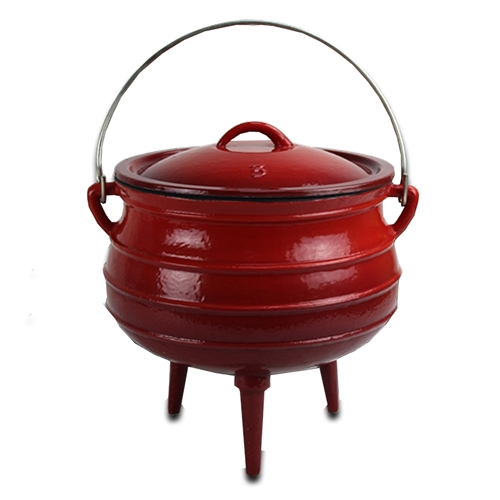 Afritrail Potjie No.3 Durable Cast Iron & Enamel Coating 3 Legged