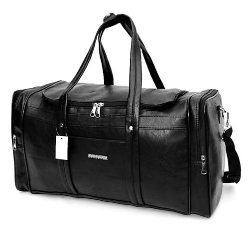 Vintage Pu Leather Weekender / Duffel Bag