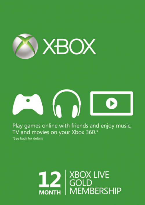 Xbox Live Gold Membership (12 Month)