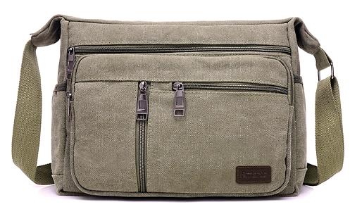 Vintage Canvas Crossbody / Shoulder Messenger Bag