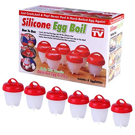 Silicone Egg Boil Pods 6 Piece