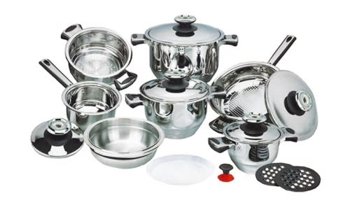 Stainless Steel Cookware Set 16 Piece