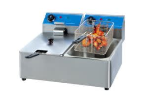 Double Electric Chips Fryer 2 x 6L Tanks