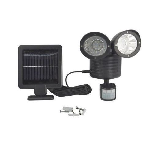 New Solar Power Motion Sensor light 22 LED Dual Head Outdoor