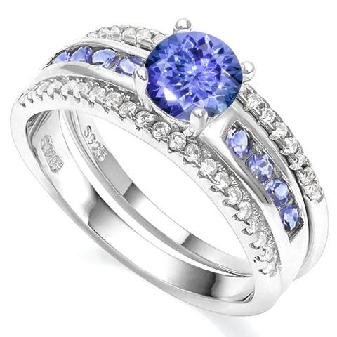 Genuine Tanzanite & 925 Sterling Silver Rings