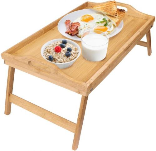 Multipurpose Stylish Bamboo Folding Desk / Tray